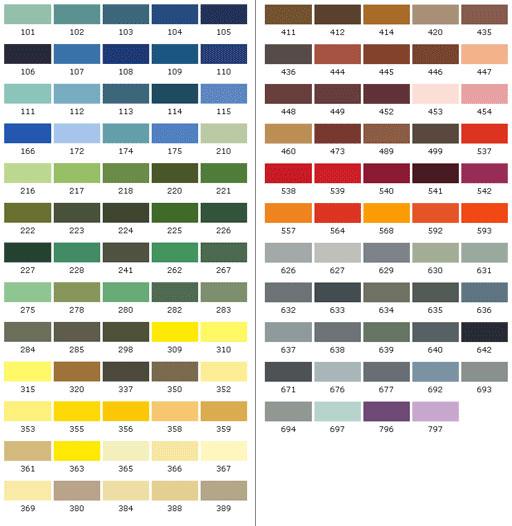 Aquatec Coatings Paint System Colour Charts