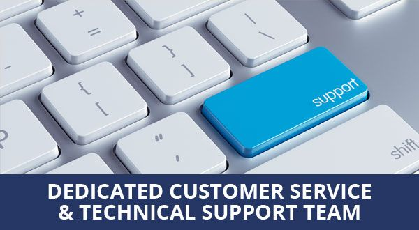 Dedicated customer service & technical support team